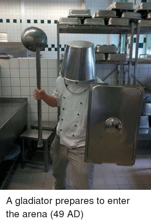 Gladiator: A gladiator prepares to enter the arena (49 AD)