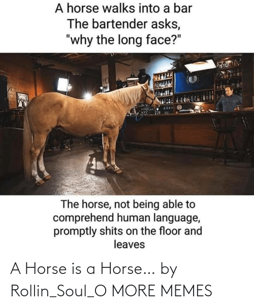 soul: A Horse is a Horse… by Rollin_Soul_O MORE MEMES