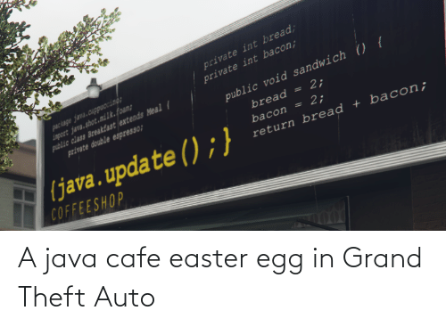 Theft: A java cafe easter egg in Grand Theft Auto