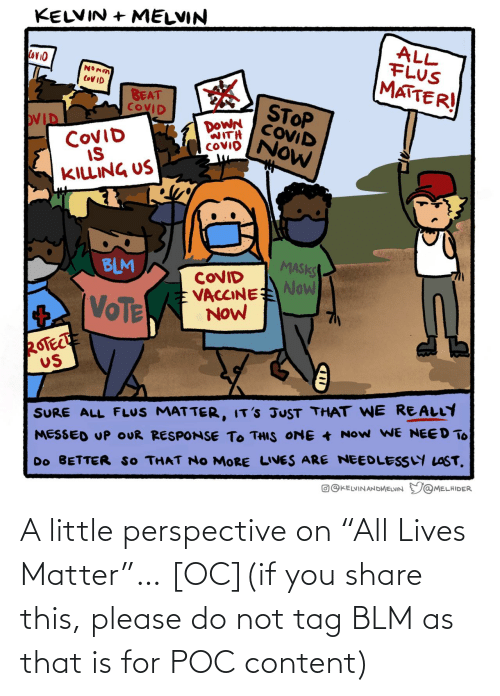 "please: A little perspective on ""All Lives Matter""… [OC](if you share this, please do not tag BLM as that is for POC content)"