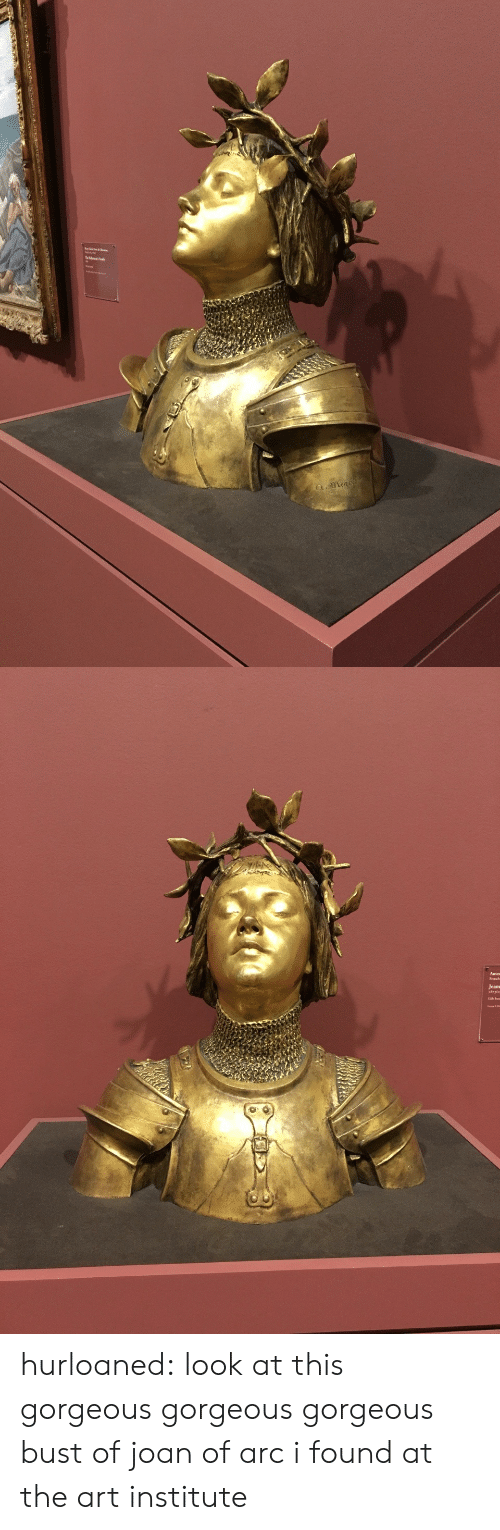 Target, Tumblr, and Blog: a.mena   Jeans hurloaned: look at this gorgeous gorgeous gorgeous bust of joan of arc i found at the art institute