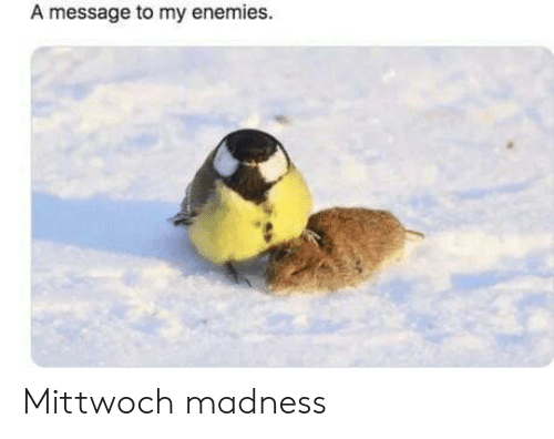 Enemies: A message to my enemies. Mittwoch madness