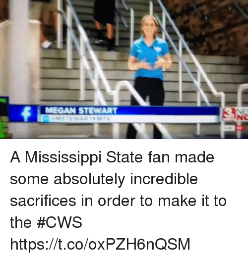 Mississippi: A Mississippi State fan made some absolutely incredible sacrifices in order to make it to the #CWS https://t.co/oxPZH6nQSM