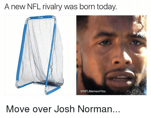 Josh Norman: A new NFL rivalry was born today.  @NFLMemes4You Move over Josh Norman...