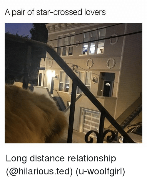 long distance relationship: A pair of star-crossed lovers Long distance relationship (@hilarious.ted) (u-woolfgirl)