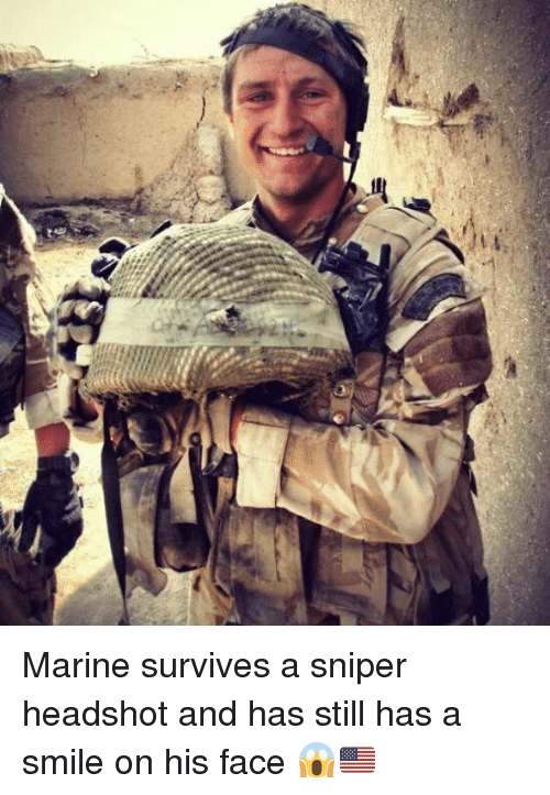 A Qi Marine Survives A Sniper Headshot And Has Still Has A Smile On