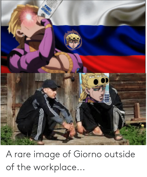 Outside Of: A rare image of Giorno outside of the workplace...