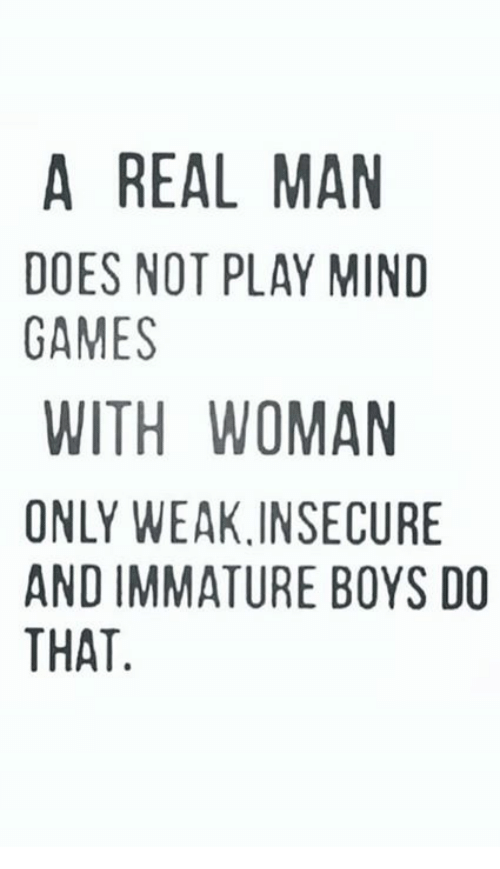 Why men play games
