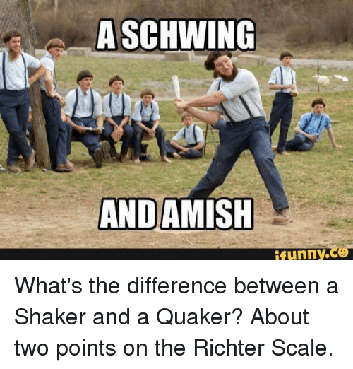 the differences between the amish and About the american protestant group known as the amish that might suddenly create conspicuous differences between haves and have nots is a prime.