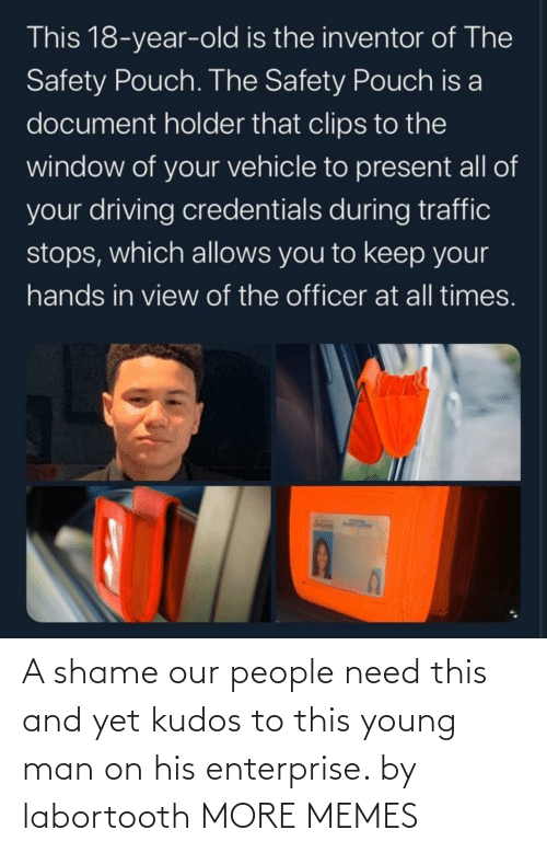 Need This: A shame our people need this and yet kudos to this young man on his enterprise. by labortooth MORE MEMES