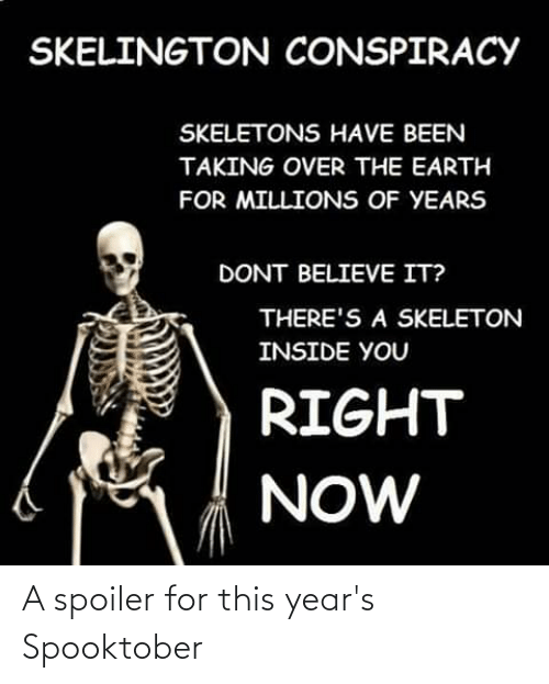 Spooktober: A spoiler for this year's Spooktober
