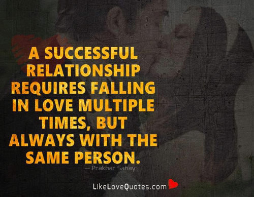 Love, Memes, and 🤖: A SUCCESSFUL  RELATIONSHIP  REQUIRES FALLING  IN LOVE MULTIPLE  TIMES, BUT  ALWAYS WITH THE  SAME PERSON.  Prakhar Sahay  LikeLoveQuotes.com