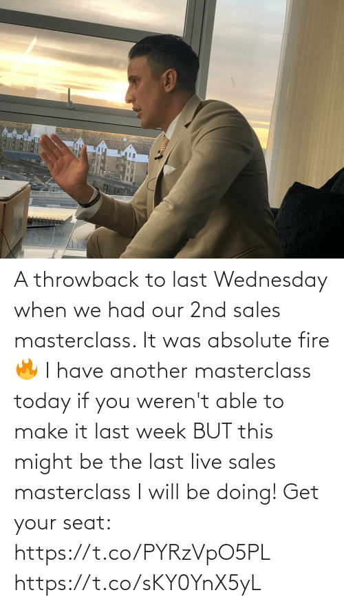 I Will: A throwback to last Wednesday when we had our 2nd sales masterclass. It was absolute fire 🔥   I have another masterclass today if you weren't able to make it last week BUT this might be the last live sales masterclass I will be doing!   Get your seat: https://t.co/PYRzVpO5PL https://t.co/sKY0YnX5yL