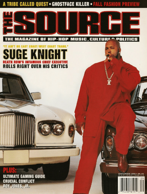 """0 9: A TRIBE CALLED QUEST GHOSTFACE KILLER. FALL FASHION PREVIEW  SOURGE  IT AIN'T NO EAST COAST/WEST COAST THANG.""""  DEATH ROW'S INFAMOUS CHIEF EXECUTIVE  ROLLS RIGHT OVER HIS CRITICS  SR  PLUS  ULTIMATE GAMING GUIDE  CRUCIAL CONFLICT  ROY JONES, JR  EPTEMBER 1996 ◆ NO.84  0 9  74470 781912"""