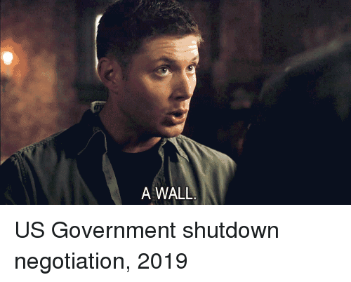 us government: A WALL US Government shutdown negotiation, 2019