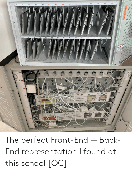 The Perfect: A3  A4  c3  /////////  ......  ........L..U  DE-- 1T  18-Iet 1  -  --  -- The perfect Front-End — Back-End representation I found at this school [OC]
