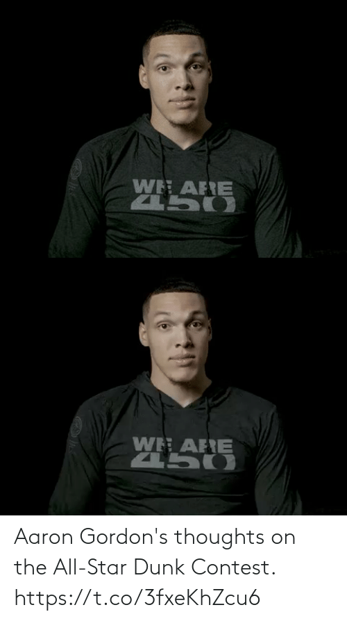 thoughts: Aaron Gordon's thoughts on the All-Star Dunk Contest. https://t.co/3fxeKhZcu6