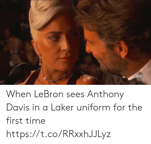 davis: abc When LeBron sees Anthony Davis in a Laker uniform for the first time https://t.co/RRxxhJJLyz