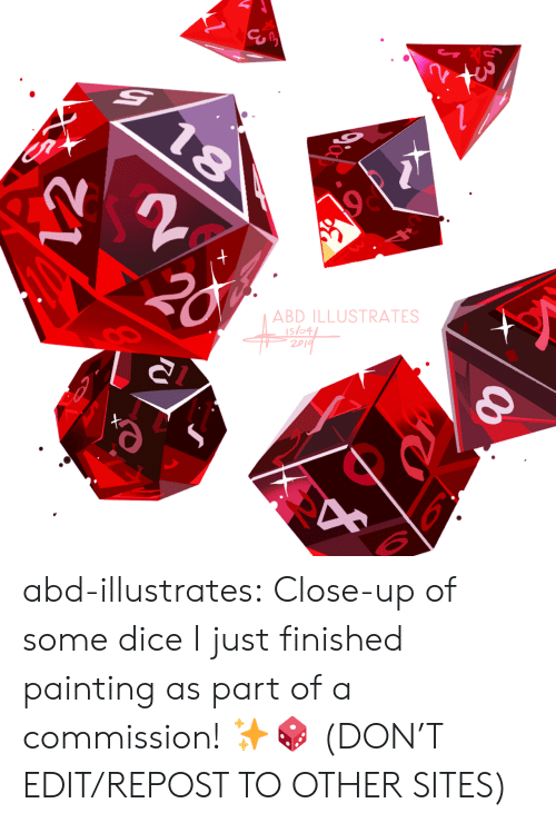 Target, Tumblr, and Blog: ABD ILLUSTRATES  slo4  2p abd-illustrates:  Close-up of some dice I just finished painting as part of a commission! ✨🎲    (DON'T EDIT/REPOST TO OTHER SITES)