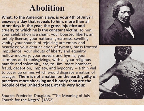 the hypocrisy of american slavery through the eyes of fredrick douglass Start studying the narrative of the life of frederick douglass -his mistress looked at him nicely with kind eyes he was -to eliminate slavery through.