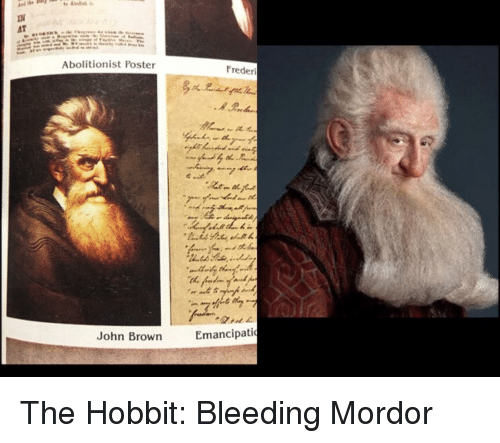 Hobbit, Lord of the Rings, and The Hobbit: Abolitionist Poster  Frederi  John Brown  Emancipatio