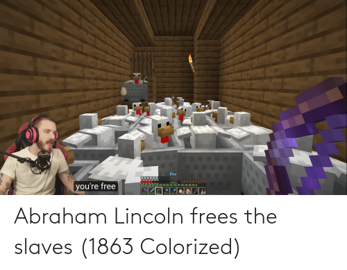 Abraham: Abraham Lincoln frees the slaves (1863 Colorized)