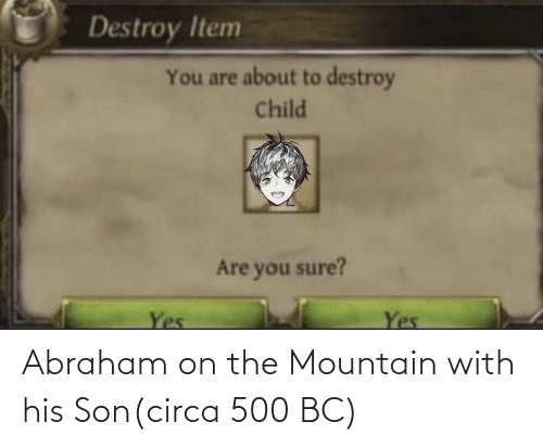 Abraham: Abraham on the Mountain with his Son(circa 500 BC)