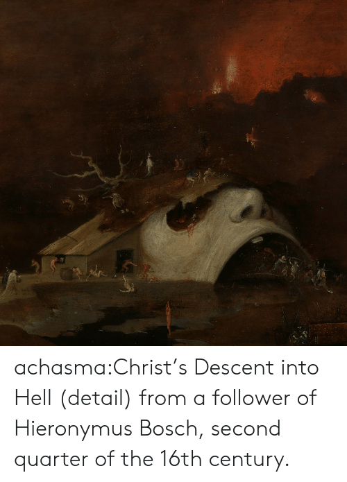 follower: achasma:Christ's Descent into Hell(detail) from a follower of Hieronymus Bosch,second quarter of the 16th century.