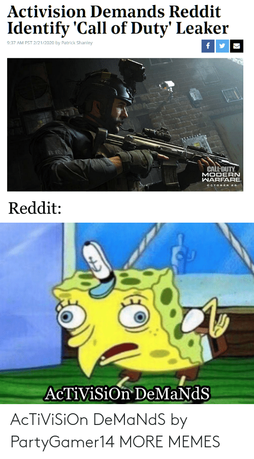 activision: AcTiViSiOn DeMaNdS by PartyGamer14 MORE MEMES