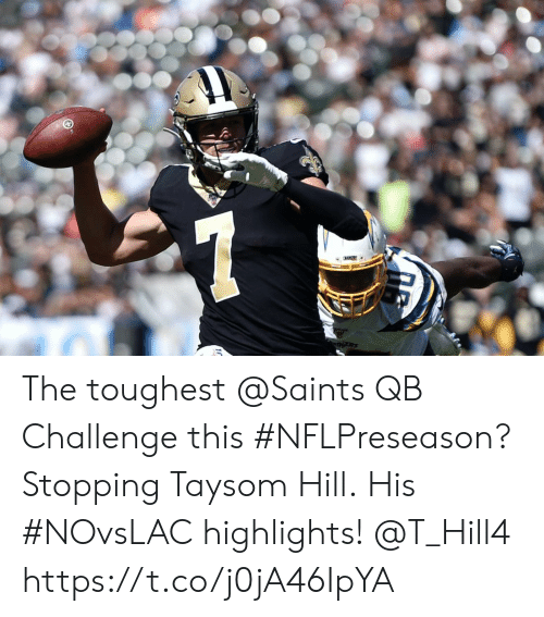 stopping: ADGRS The toughest @Saints QB Challenge this #NFLPreseason?  Stopping Taysom Hill.  His #NOvsLAC highlights! @T_Hill4 https://t.co/j0jA46IpYA