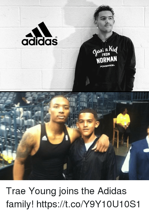 Norman: adidas  FROM  NORMAN Trae Young joins the Adidas family! https://t.co/Y9Y10U10S1