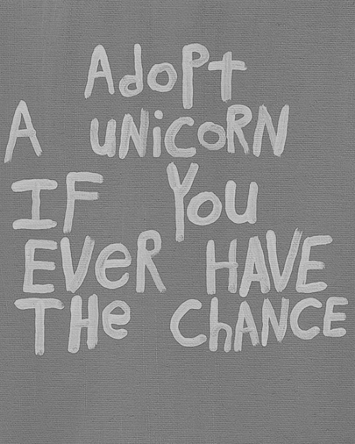 Unicorn, You, and Chance: AdoPt  A UNICORN  IF YOu  EveR HAVE  THe ChANCE