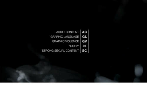 Content, Strong, and Language: ADULT CONTENT AC  GRAPHIC LANGUAGE GL  GRAPHIC VIOLENCE GV  NUDITY N  STRONG SEXUAL CONTENT SC