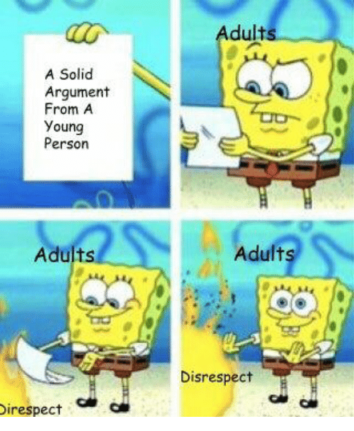 Solid, Person, and Argument: Adults  A Solid  Argument  From A  Young  Person  Adults  Adults  Disrespect  irespect