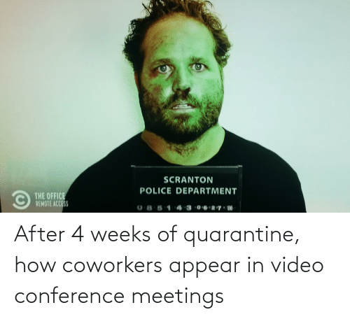Coworkers: After 4 weeks of quarantine, how coworkers appear in video conference meetings