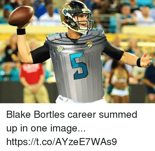 Summed Up: AGE Blake Bortles career summed up in one image... https://t.co/AYzeE7WAs9