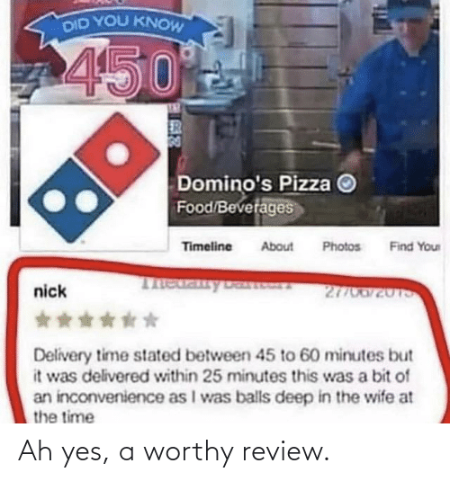 Yes, Review, and Ah Yes: Ah yes, a worthy review.