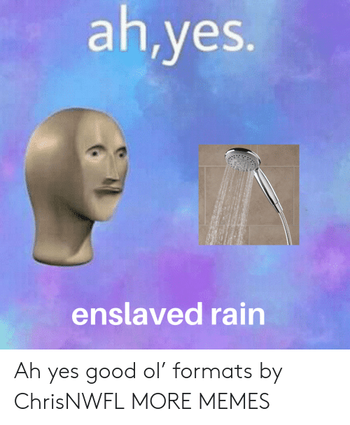 Formats: ah,yes.  enslaved rain Ah yes good ol' formats by ChrisNWFL MORE MEMES