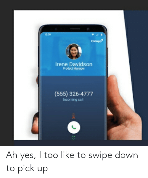 Down To: Ah yes, I too like to swipe down to pick up