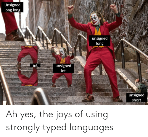 Strongly: Ah yes, the joys of using strongly typed languages
