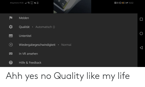 ahh: Ahh yes no Quality like my life