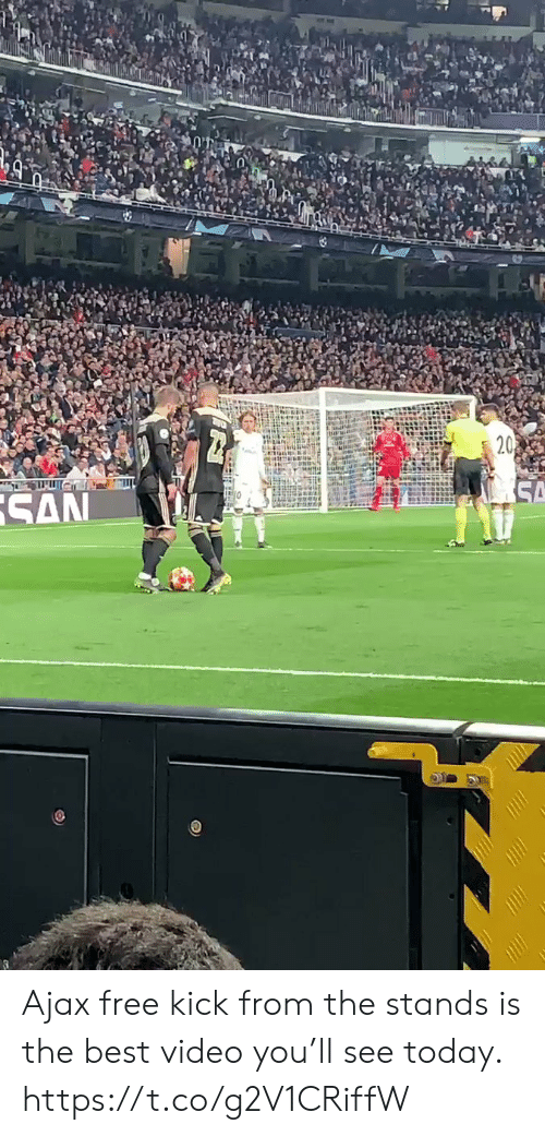 Memes, Best, and Free: Ajax free kick from the stands is the best video you'll see today. https://t.co/g2V1CRiffW