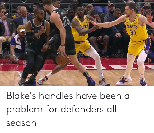oto: AKERS  31  OTO  Li  ac Blake's handles have been a problem for defenders all season