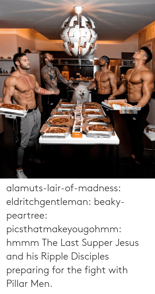 hmmm: alamuts-lair-of-madness: eldritchgentleman:  beaky-peartree:  picsthatmakeyougohmm:  hmmm  The Last Supper  Jesus and his Ripple Disciples preparing for the fight with Pillar Men.