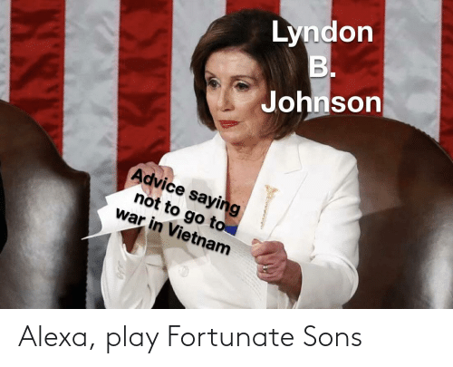 play: Alexa, play Fortunate Sons
