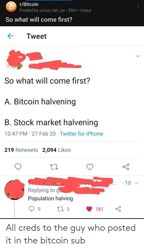 Bitcoin: All creds to the guy who posted it in the bitcoin sub