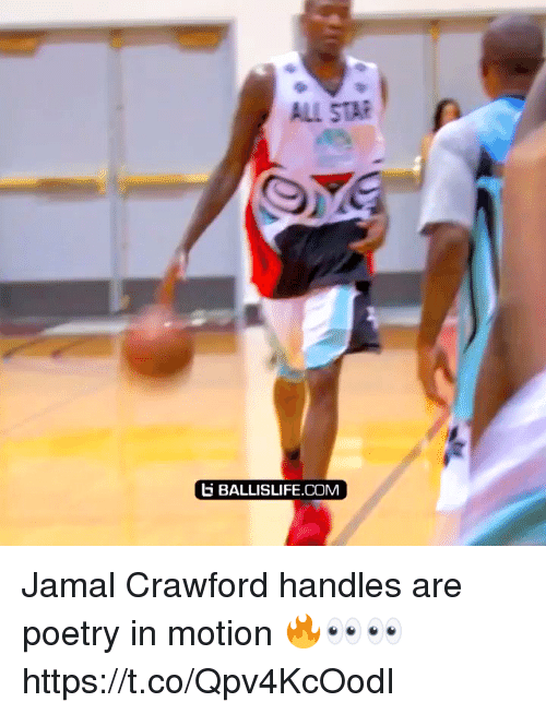 All Star, Memes, and Star: ALL STAR  BALLISLIFE.COM Jamal Crawford handles are poetry in motion 🔥👀👀 https://t.co/Qpv4KcOodI