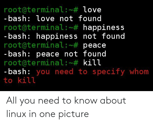 know: All you need to know about linux in one picture