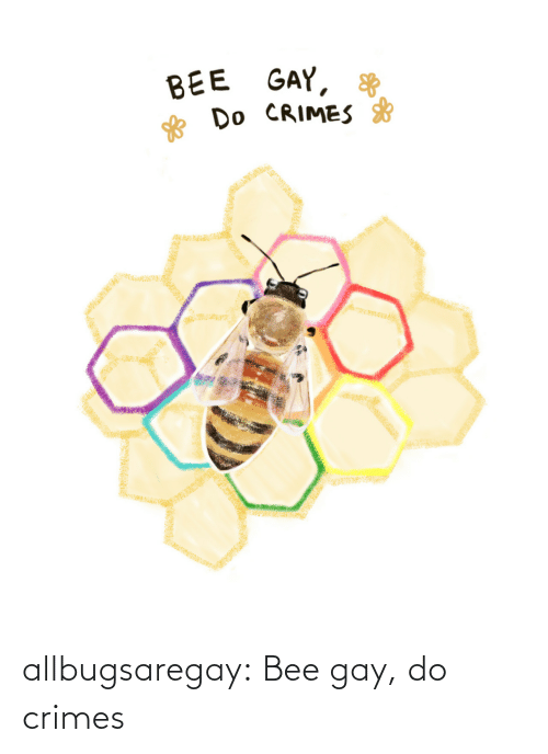 gay: allbugsaregay: Bee gay, do crimes