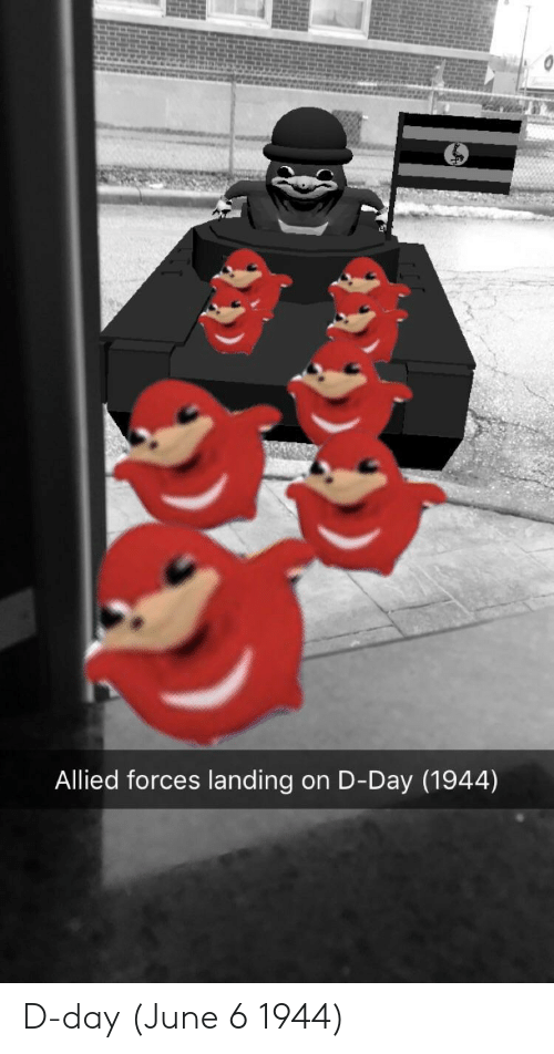june 6 1944: Allied forces landing on D-Day (1944) D-day (June 6 1944)